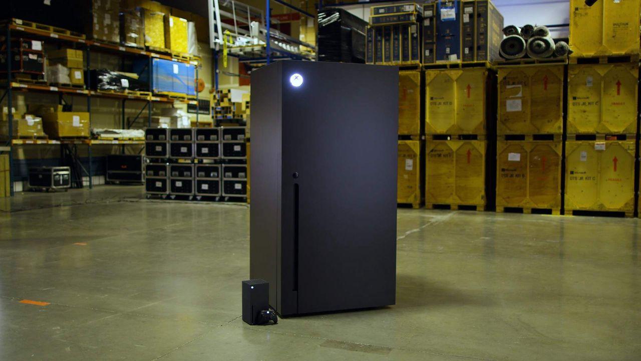 Lodówka, która powstała dla żartu, trafia do sprzedaży - Konsola Xbox Series X i lodówka Xbox Mini Fridge