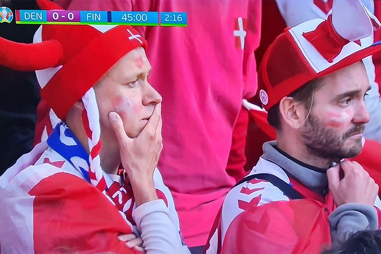 Dania-Finlandia. Kontrowersyjna decyzja UEFA po dramatycznej sytuacji