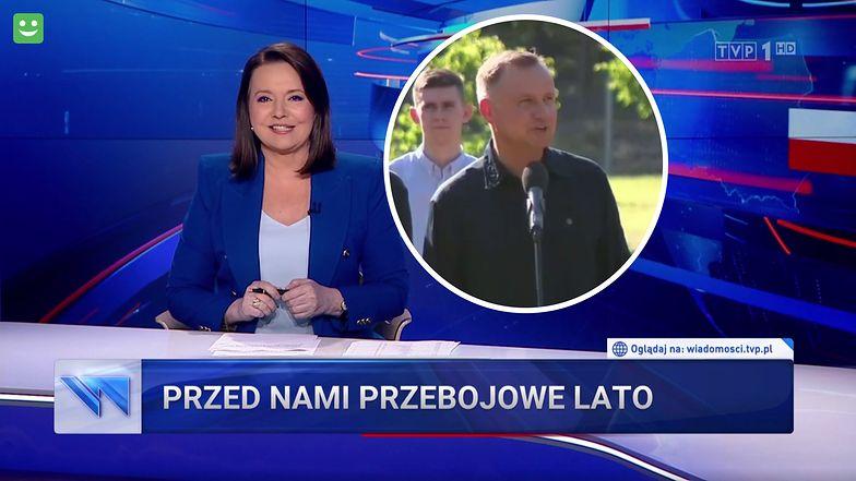 """""""Wiadomości"""" ciągle zaskakują. W zapowiedziach koncertów była laurka dla Andrzeja Dudy"""