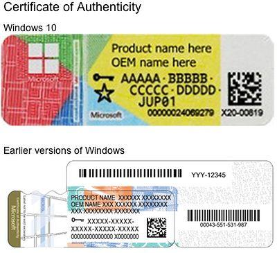 Przykładowe Certyfikaty Autentyczności. Źródło: Graham Cluley