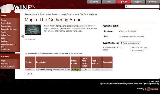 MtG:Arena akurat działała dobrze, gdy był wykonywany test ze screena
