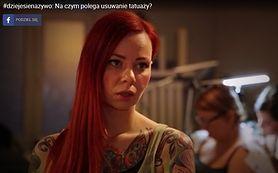 #dziejesienazywo: Na czym polega usuwanie tatuaży? (WIDEO)