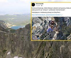 """Niepokojący widok w Tatrach. """"Nie wiedzieliśmy, co z tym zrobić"""""""