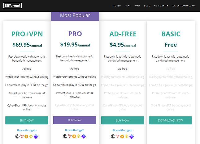 BitTorrent monetyzuje dziś na reklamach i kryptowalutach (fot. BitTorrent)