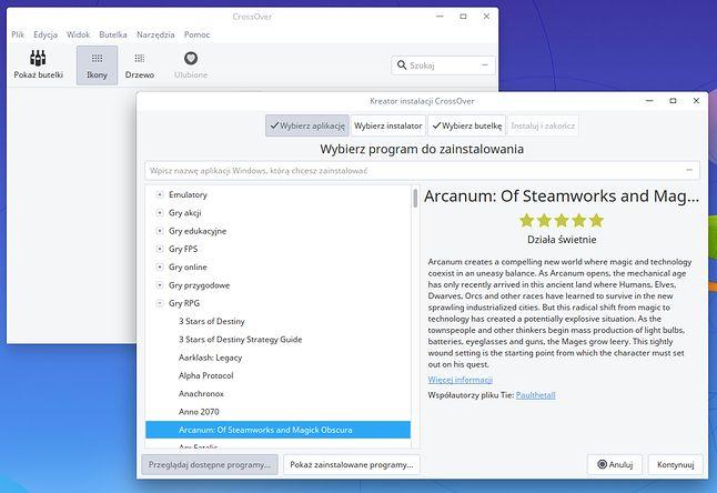 CrossOver za darmo dla użytkowników Deepin Linuksa: instalacja gier i aplikacji z Windowsa tak łatwa jak to tylko możliwe