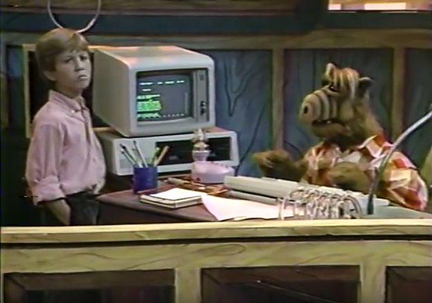 Jak widać, Alf potrafiłużtwać komputera...