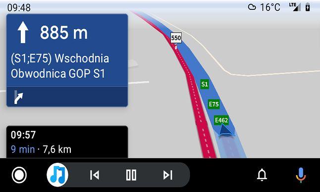 AutoMapa w Androidzie Auto