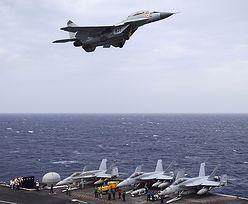 """MiG-29 nad amerykańskim lotniskowcem. """"Krytyka rosyjskiej myśli technicznej"""""""