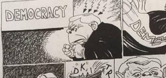 """""""New York Times"""" opublikował komiks o Kaczyńskim"""
