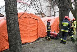 Warszawa. Namioty polowe jako izby przyjęć na wypadek koronawirusa