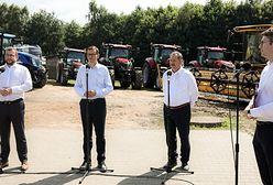 Wizyta premiera i ministra w Brzydowie to ustawka? W tle pożyczone maszyny