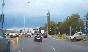 Niebezpieczne zachowanie kierowcy przed fotoradarem