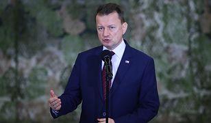 Mariusz Błaszczak pytany był o zaangażowanie Polski w konflikt na Bliskim Wschodzie