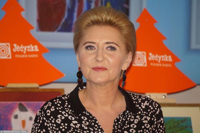 Agata Kornhauser-Duda z zaciekawieniem słuchała pytań