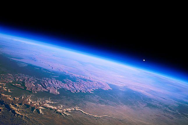 Widok z balonu Near Space nad Wielkim Kanionem