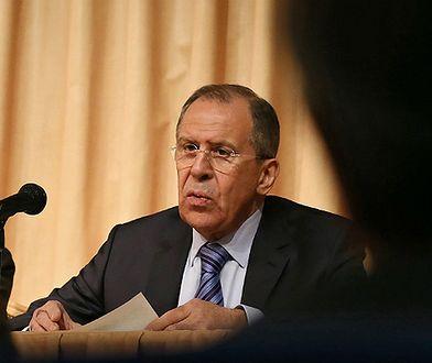 Siergiej Ławrow, szef MSZ Rosji.