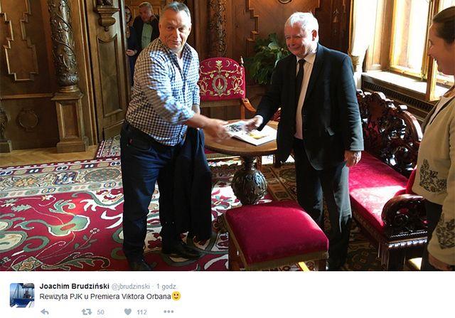 Rewizyta prezesa PiS. Kaczyński u Orbana