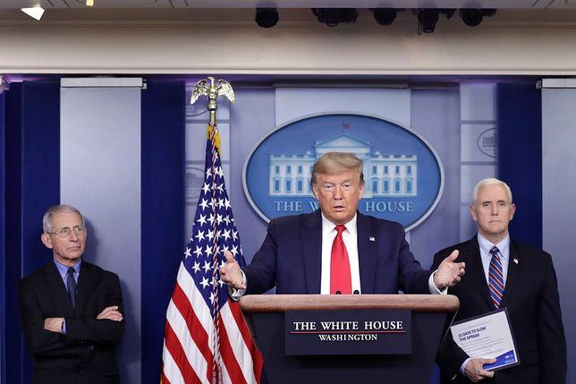 Koronawirus. Prezydent USA Donald Trump podczas konferencji prasowej