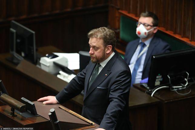 Koronawirus w Polsce. Minister zdrowia Łukasz Szumowski w Sejmie