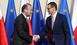 Mateusz Morawiecki i Manfred Weber spotkali się w Warszawie. Nowe rozdanie w Unii