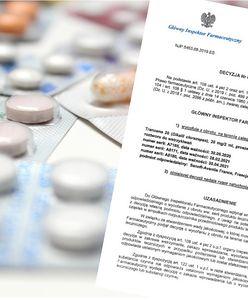 Lek przeciwlękowy wycofany. GIF nakazał usunięcie 3 partii z obrotu