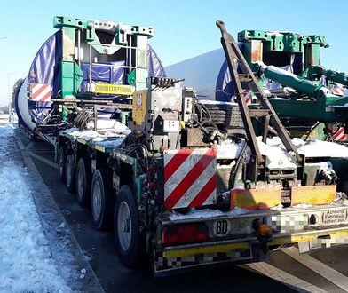 Nielegalny transport wiatraków blokował drogę. Rekordowy mandat