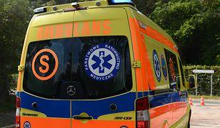 Makabryczny wypadek w Nowym Dworze Mazowieckim. Mężczyznę przygniótł walec