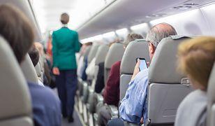Skandal w samolocie