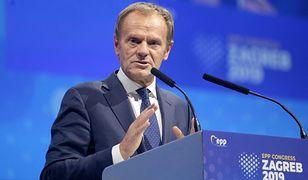 Donald Tusk na kongresie wyborczym Europejskiej Partii Ludowej