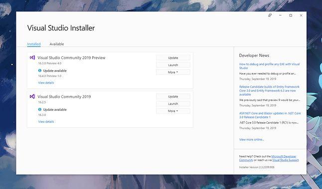 Nowy Visual już czeka. I działa żwawiej niż poprzednie. Wydaje się, że Visual Studio przestało zwalniać z wersji na wersję!