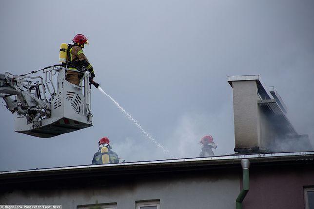 Pożar w Bytomiu. Dwie osoby w szpitalu (zdj. ilustracyjne)