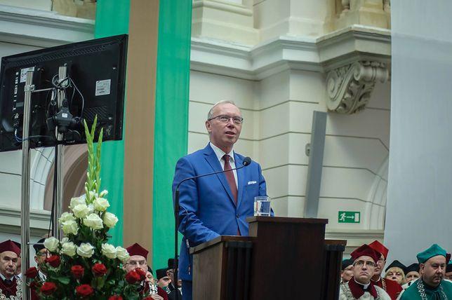 Jacek Kozłowski, były wojewoda mazowiecki, w trakcie przemówienia