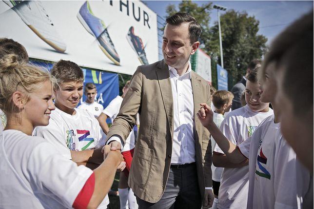 Prezes PSL Władysław Kosiniak-Kamysz na spotkaniu z wyborcami
