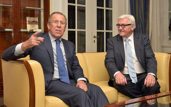 Siergiej Ławrow i Frank-Walter Steinmeier