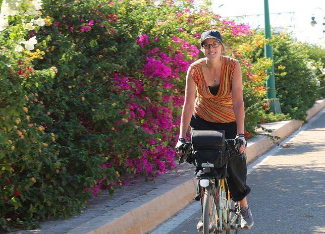 Gdy zdradziła swój plan, znajomi pukali się w głowę. Pojechała na Bliski Wschód... rowerem