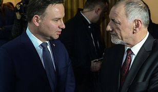 Prezydent Andrzej Duda i prof. Jan Duda