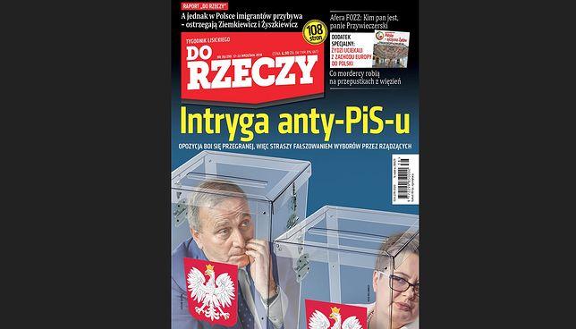 """Okładka najnowszego wydania tygodnika """"DoRzeczy"""""""