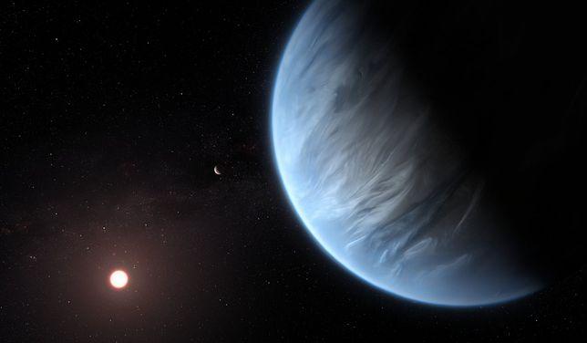 Kosmos. K2-18b znajduje się około 110 lat świetlnych od Ziemi