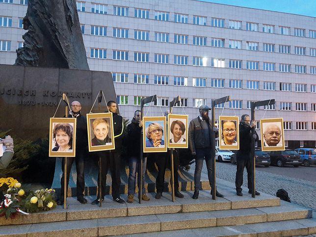 Akcja narodowców na pl. Korfantego w Katowicach