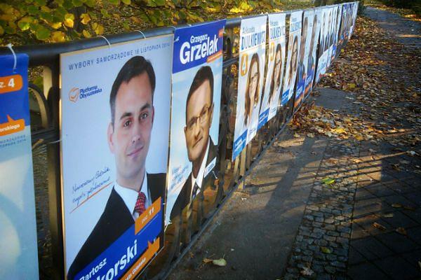 Powódź w Gdańsku? Miasto zalały plakaty wyborcze