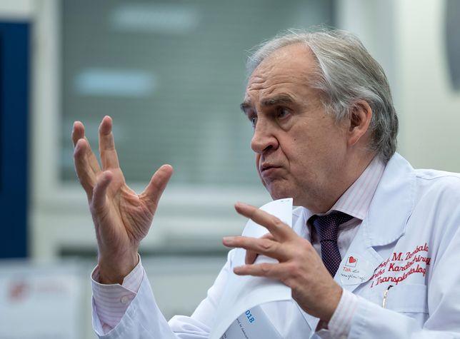 Prof. Marian Zembala pierwszy raz po udarze. Kardiochirurg apeluje do Polaków