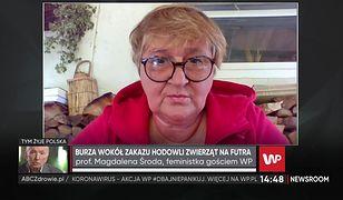 """Magdalena Środa o Jarosławie Kaczyńskim i """"piątce dla zwierząt"""""""