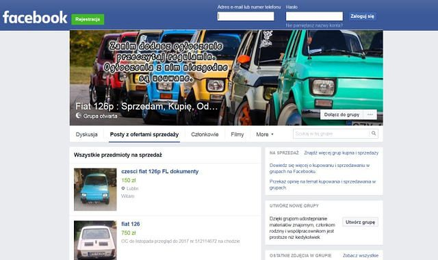 Teraz auto kupisz na Facebooku