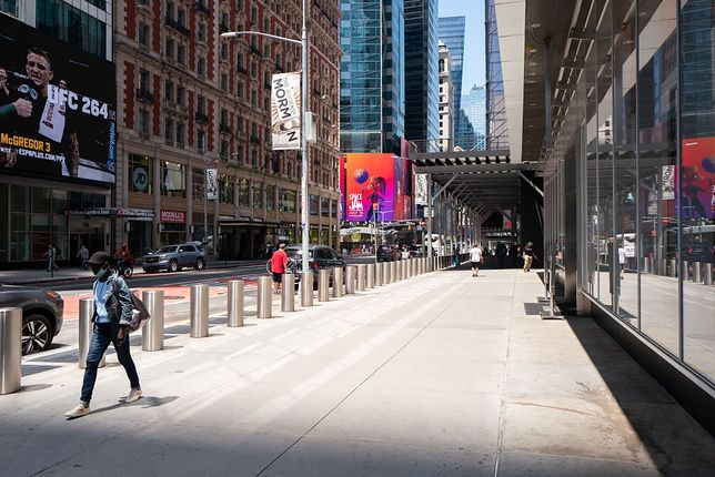 Puste ulice w Nowym Jorku to nie jest norma