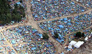 Kostrzyn nad Odrą. Widok z drona na Pol'and'Rock Festival