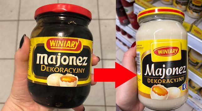 Skład tego samego majonezu kiedyś i dziś. Znalazłam etykietę sprzed lat