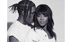 "Naomi Campbell i A$AP Rocky w ""POP Magazine"""