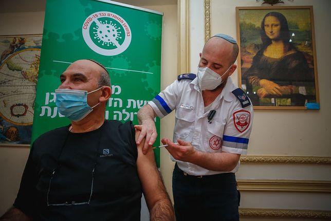 Szczepienia w Tel Awiwie, 13 stycznia 2020 r.