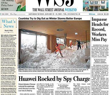 """Okładka weekendowego wydania """"Wall Street Journal"""""""