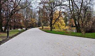 """Nowe alejki w parku Ujazdowskim. """"Efekt pracy rozściełacza"""" [WIDEO]"""